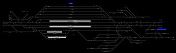 Cegléd állomás helyszínrajza