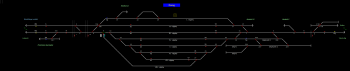 Dorog állomás helyszínrajza