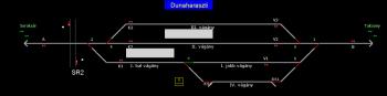 Dunaharaszti állomás helyszínrajza