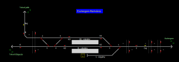 Esztergom-Kertváros állomás helyszínrajza