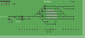 Esztergom állomás biztosítóberendezáse