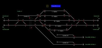 Fényestilke sz.pu. állomás helyszínrajza