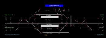 Győrszentiván állomás helyszínrajza