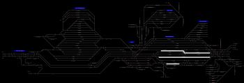 Hatvan állomás helyszínrajza