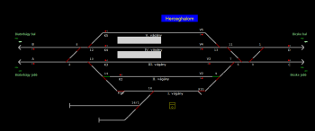 Herceghalom állomás helyszínrajza