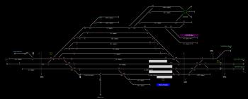 Kiskunhalas állomás helyszínrajza