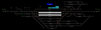 Lábatlan állomás helyszínrajza