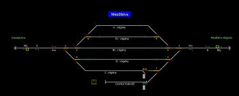 Mezőfalva állomás helyszínrajza