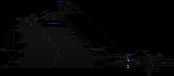 Miskolc-Rendező állomás helyszínrajza