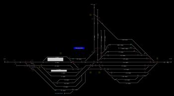 Murakeresztúr állomás helyszínrajza