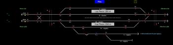Pilis állomás helyszínrajza
