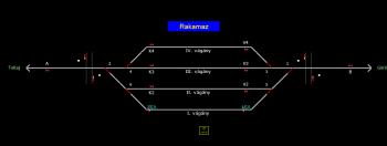 Rakamaz állomás helyszínrajza