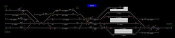 Siófok állomás helyszínrajza