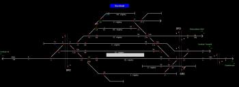Soroksár állomás helyszínrajza