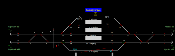 Tápiógyörgye állomás helyszínrajza