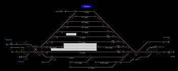 Tapolca állomás helyszínrajza