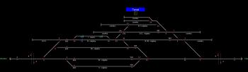 Tarcal állomás helyszínrajza