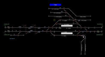 Tata állomás helyszínrajza