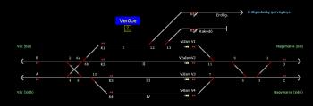 Verőce állomás helyszínrajza