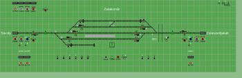 Zalakomár állomás biztosítóberendezáse