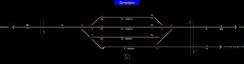 Zichyújfalu állomás helyszínrajza