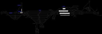 Győr-Rendező állomás helyszínrajza