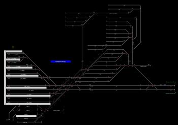 Budapest-Déli pu. állomás helyszínrajza