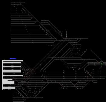 Budapest-Keleti pu. állomás helyszínrajza