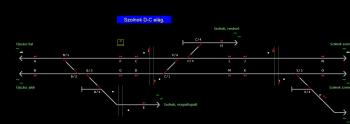 Szolnok D-C elág. állomás helyszínrajza