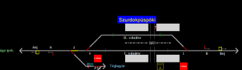 Szurdokpüspöki állomás helyszínrajza