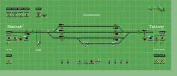 Dunaharaszti állomás biztosítóberendezáse