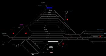 Dunaújváros állomás helyszínrajza