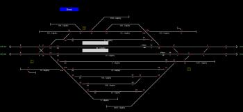Ercsi állomás helyszínrajza
