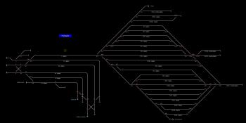 Felsőgalla állomás helyszínrajza