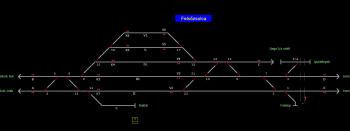Felsőzsolca állomás helyszínrajza