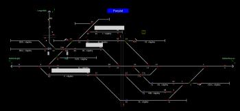Fonyód állomás helyszínrajza
