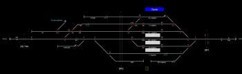 Gyula állomás helyszínrajza