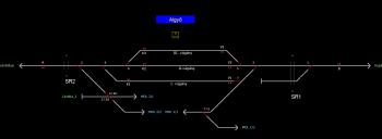 Algyő állomás helyszínrajza