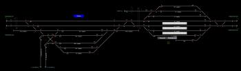 Kaba állomás helyszínrajza