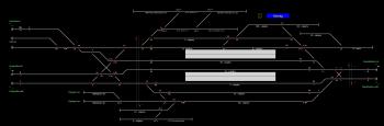 Karcag állomás helyszínrajza
