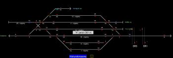 Kiskundorozsma állomás helyszínrajza