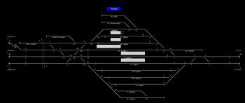 Aszód állomás helyszínrajza