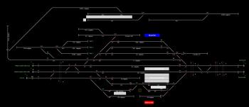 Mezőtúr állomás helyszínrajza