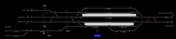 Murony állomás helyszínrajza
