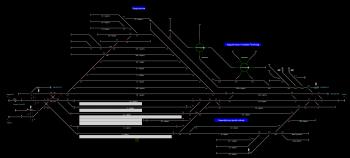 Nagykanizsa állomás helyszínrajza