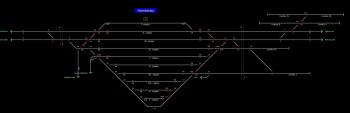 Nyékládháza állomás helyszínrajza