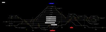 Orosháza állomás helyszínrajza