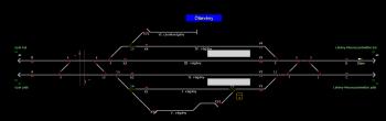 Öttevény állomás helyszínrajza