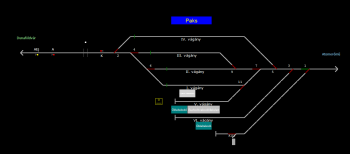 Paks állomás helyszínrajza
