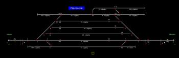 Pilisvörösvár állomás helyszínrajza